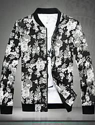 cheap -SMR Men's Fashion Floral Print Stand Collar Jacket_1626
