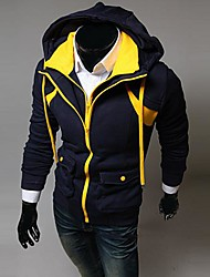 Lesen мужская балахон моды контраст цвета ложные две части случайный балахон о