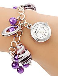 Жен. Часы-браслет Модные часы Кварцевый сплав Группа Жемчуг Фиолетовый