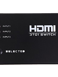 cheap -New 3 Ports HDMI Audio Video Switch Switcher 1080p Splitter Amplifier Remote Box