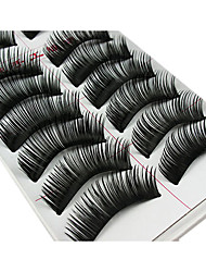 cheap -10 Pairs Fabulous Thick Black Chemical Fiber False Eyelashes