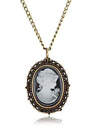 Women's Lady Pattern Alloy Necklace Watch Cool Watches Unique Watches