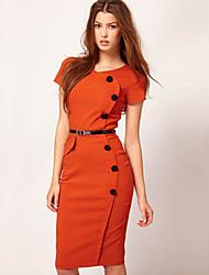 monta estilos ocidentais de moda slim fit sobre o vestido de quadril com o botão