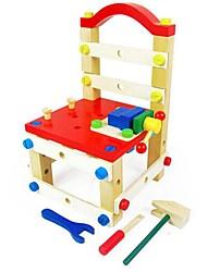 Недорогие -красочные деревянные многофункциональные монтаж стул блоки игрушки