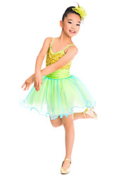 cheap -Kids' Dancewear Dresses Training Spandex Tulle Sequin