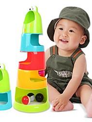 Недорогие -Стек гусениц Радуга пластического ребенка миски блоки (Random Color)