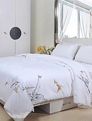 100% de cobertura de algodão bordado chinês colcha de seda