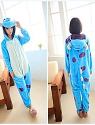 Недорогие -пушистый монстр университет синий коралловый флис унисекс Kigurumi пижамы мультфильм пижамы животное Хэллоуин костюм
