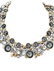 europäischen Stil Retro-Edelstein Halskette (weitere Farben)