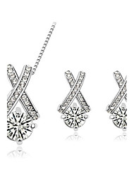 cheap -Women's Jewelry Set Earrings / Necklace - Silver / Golden Jewelry Set For Wedding / Party