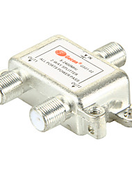 cheap -2 Way Satellite TV Antenna Coaxial Power Splitter Silvery
