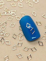 abordables -200 piezas en forma de diamante hueca de metal dorado decoración del arte del clavo de la rebanada
