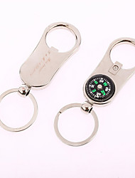 Personalized Compass&Bottle Opener Key Ring (Set of 6)