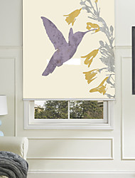 cheap -Painting Style Simple Blue Hummingbird Roller Shade