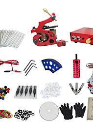 preiswerte -1 Pistole abzuschließen keine Tinte Tattoo-Set mit roten Tattoo Maschine und rote Aluminiumlegierung Stromversorgung