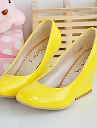 cheap -Women's Shoes Leatherette Spring Summer Fall Wedge Heel With For Dress Party & Evening Black White Red Blue Yellow