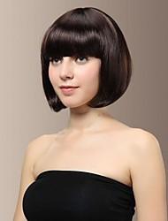 billige -Syntetiske parykker Bob frisure / Med bangs / pandehår Syntetisk hår Med Bangs Paryk Dame