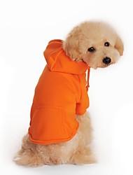 Cane Felpe con cappuccio Abbigliamento per cani Tinta unita Nero Arancione Grigio Rosso