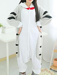 Kigurumi Pyjamas Kat Chi Sweet Home / Cheese Kat Kostume Polarfleece Trikot / Heldragtskostumer Festival / Højtider Nattøj Med Dyr