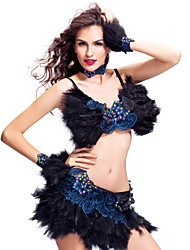 cheap -Samba Shoes Dresses Women's Feather Lace / Crystals / Rhinestones / Performance