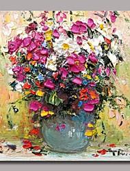 economico -Dipinta a mano Natura morta Quadrato, Classico Tradizionale Hang-Dipinto ad olio Decorazioni per la casa Un Pannello