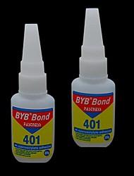 Недорогие -1шт 15мл BYB акрил художественные облигаций клей для ногтей Прочность адгезионной