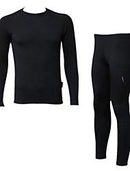 Realtoo Cyklo bunda a kalhoty Dámské Unisex Dlouhé rukávy Jezdit na kole Sady oblečení Zahřívací Zateplená podšívka Prodyšnéelastan