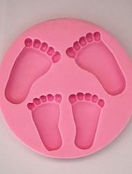 Feet Baking Fondant Cake Chocolate Candy Mold,L14cm*W14cm*H1.4cm SM-300