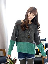povoljno -Žene Ulični šik Pullover Color block