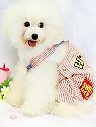 Cani Cappottini Rosso / Blu Abbigliamento per cani Inverno Righe / Lettere & Numeri