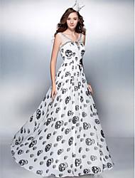 Funda / Columna Hasta el Suelo Raso Baile de Promoción Evento Formal Vestido con Cuentas por TS Couture®
