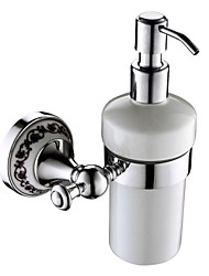 Soap Dispenser / Chrome Brass Zinc Alloy /Contemporary