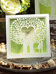economico -Piegato in alto Inviti di nozze Invito Cards Classico Carta 15*15cm