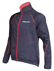 Realtoo Cycling Jacket Men's Women's Unisex Bike Jacket Waterproof Thermal / Warm Windproof Fleece Lining Rain-Proof Breathable Spandex