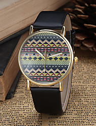 cheap -Women's Fashion Watch Quartz Hot Sale PU Band Bohemian Black White Blue Red Brown Pink