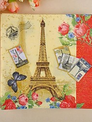 Недорогие -Эйфелева башня шаблон салфетки (набор из 20)