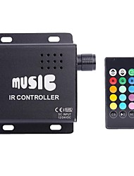 cheap -4A 3-Channel RGB LED Music IR Controller with Multifunction Remote Controller for RGB LED Strip Lamp (DC 12V-24V)