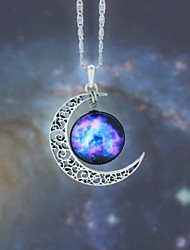 cheap -Women's Moon Fashion European Galaxy Pendant Necklace Synthetic Gemstones Alloy Pendant Necklace , Party Halloween Business Gift Daily