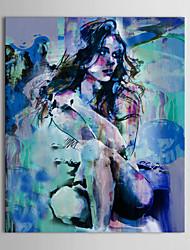 Недорогие -iarts®oil живопись люди корточки секси голые красоту с растянутыми кадров ручная роспись холст