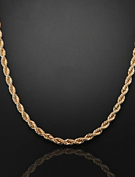 cheap -60cm,8mm,Rose Gold Plated Thick Chunky Figaro Chain Men's Swirl Chain Necklace,Lobster Clasp  Jewelry Christmas Gifts