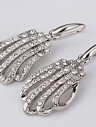 Dråbeøreringe Kvadratisk Zirconium Zirkonium Platin Belagt Imitation Diamond Sølv Smykker Daglig Afslappet 1 par