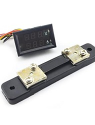 cheap -Mini Digital Blue + Red LED DC Current Meter Voltmeter w/ Ampere Shunt