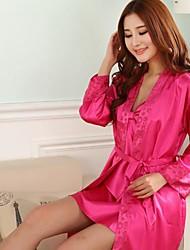 manga curta veste-noite e sexo feminino furuixiang® com pijama de tecido de seda imitado