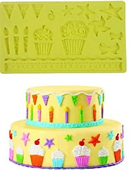 cheap -Bakeware tools Silicone Eco-friendly / 3D / DIY For Cake / For Cookie / For Chocolate Mold 1pc
