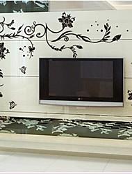 doudouwo® Wall Stickers Vægoverføringsbilleder, blomster de ædle og smukke blomster pvc wall stickers