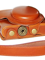 cheap -Dengpin® Leather Camera Case Oil Skin with Shoulder Strap for Sony DCS-RX100 II M2 M3 RX100 III RX100