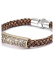 Bracelet Bracelets en cuir Cuir Autres Original Mode Quotidien Décontracté Bijoux Cadeau Noir Brun,1pc