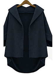 cheap -Z.Y.P Women's Autumn Winter Western Temperament Loose 3/4 Sleeve Bat Sleeve Windbreaker