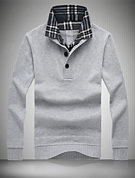 Men's Lapel Recreational Sweater