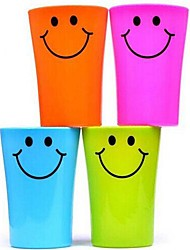 cheap -Multi-function Smile Face Plastic Toothbrush Cup 360ML(Random Color)